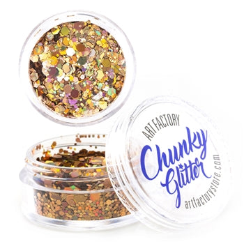 Art Factory | Loose Chunky Glitter - Gold Digger (10ml jar)
