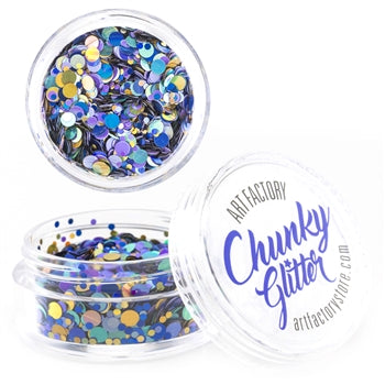 Art Factory | Loose Chunky Glitter - Peacock (10ml jar) - Jest Paint Store