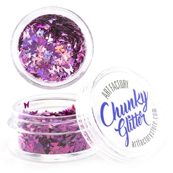 Art Factory | Loose Chunky Glitter - Pink Butterflies (10ml jar)