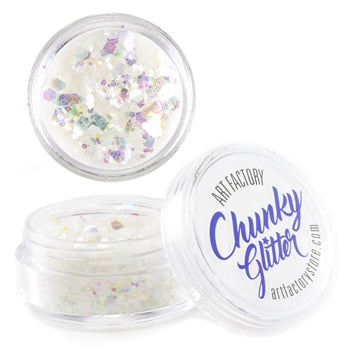 Art Factory | Loose Chunky Glitter - Snowflake (10ml jar) - Jest Paint Store