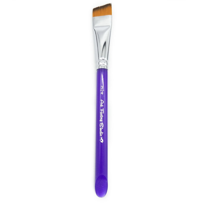 "Art Factory Studio Face Painting Brush - 3/4"" Acrylic Handle Angle"