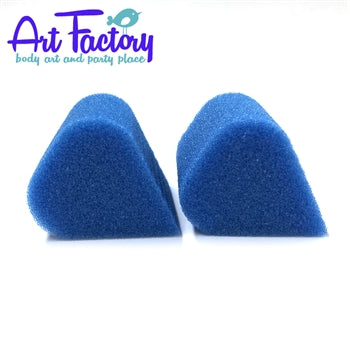Art Factory | Blue High Density Face Painting Sponges - Petal (2 pieces) - Jest Paint Store