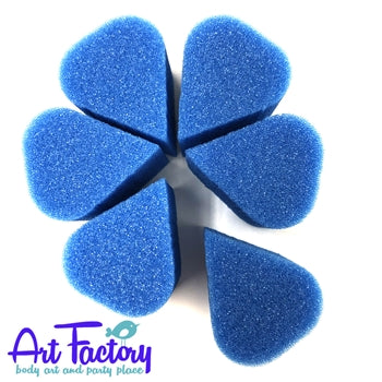 Art Factory | Blue High Density Face Painting Sponges - Petal (6 pieces) - Jest Paint Store