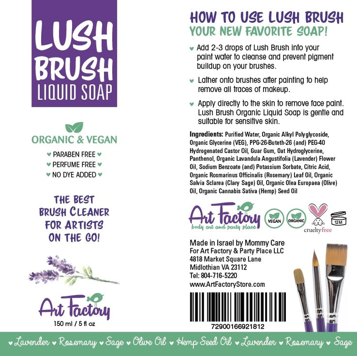 Art Factory | Lush Brush Liquid Soap - 5oz - Jest Paint Store