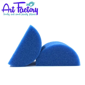 Art Factory | Blue High Density Face Painting Sponges - Half Circle (2 pieces) - Jest Paint Store