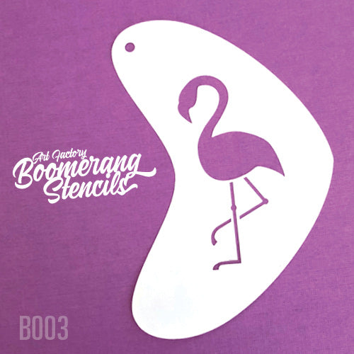 Art Factory - Boomerang Face Painting Stencil - Flamingo