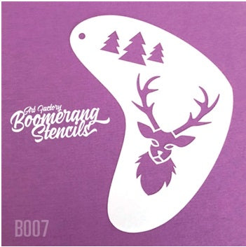 Art Factory | Boomerang Face Painting Stencil - Deer (B007) - Jest Paint Store