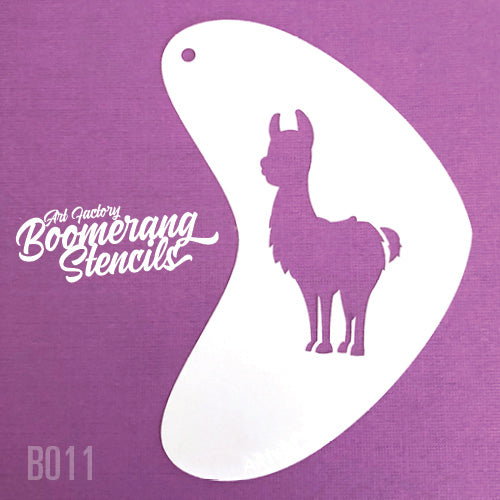 Art Factory - Boomerang Face Painting Stencil - Llama (B011) - Jest Paint Store