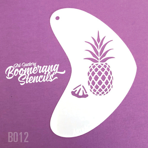 Art Factory - Boomerang Face Painting Stencil - Pineapple (B012) - Jest Paint Store
