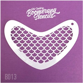 Art Factory | Boomerang Face Painting Stencil - Mermaid Scales (B013)
