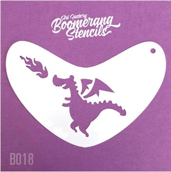 Art Factory | Boomerang Face Painting Stencil - Cute Dragon (B018) - Jest Paint Store
