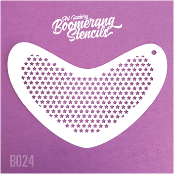 Art Factory | Boomerang Face Painting Stencil - Small Stars (B024)
