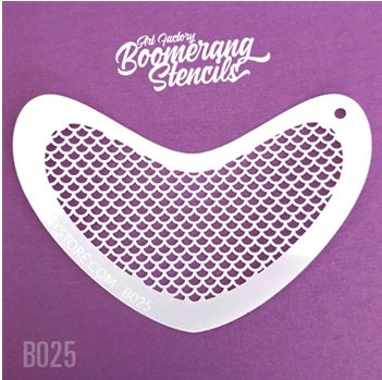 Art Factory | Boomerang Face Painting Stencil - Small Scales (B025)