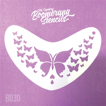 Art Factory | Boomerang Face Painting Stencil - Butterfly (B030) - Jest Paint Store