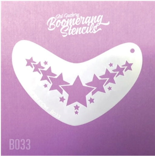 Art Factory | Boomerang Face Painting Stencil - Star Crown (B033)