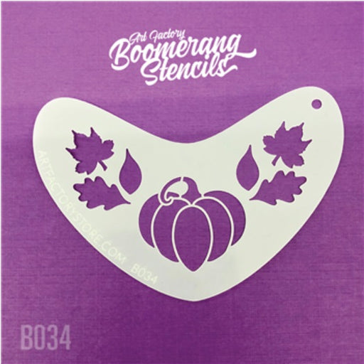 Art Factory | Boomerang Face Painting Stencil - Pumpkin (B034)