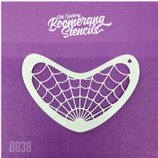 Art Factory | Boomerang Face Painting Stencil - Spiderweb (B038)