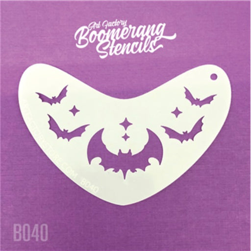 Art Factory | Boomerang Face Painting Stencil - Bat Crown (B040)