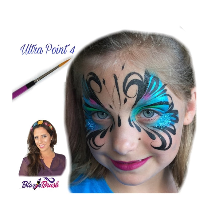 Blazin Face Painting Brush by Marcela Bustamante - Ultra Point 4 - Jest Paint Store