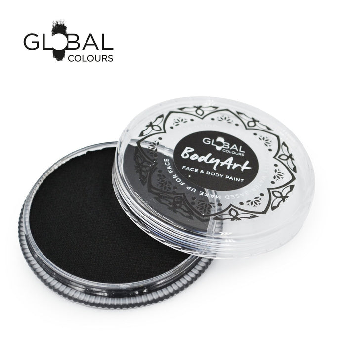 Global Colours Body Art | Face and Body Paint - NEW Standard Black (32gr) - Jest Paint Store