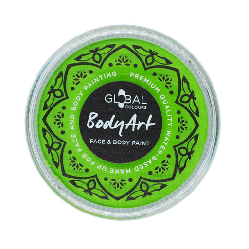 Global Colours Body Art | Face and Body Paint - NEW Standard Lime Green 32gr - Jest Paint Store