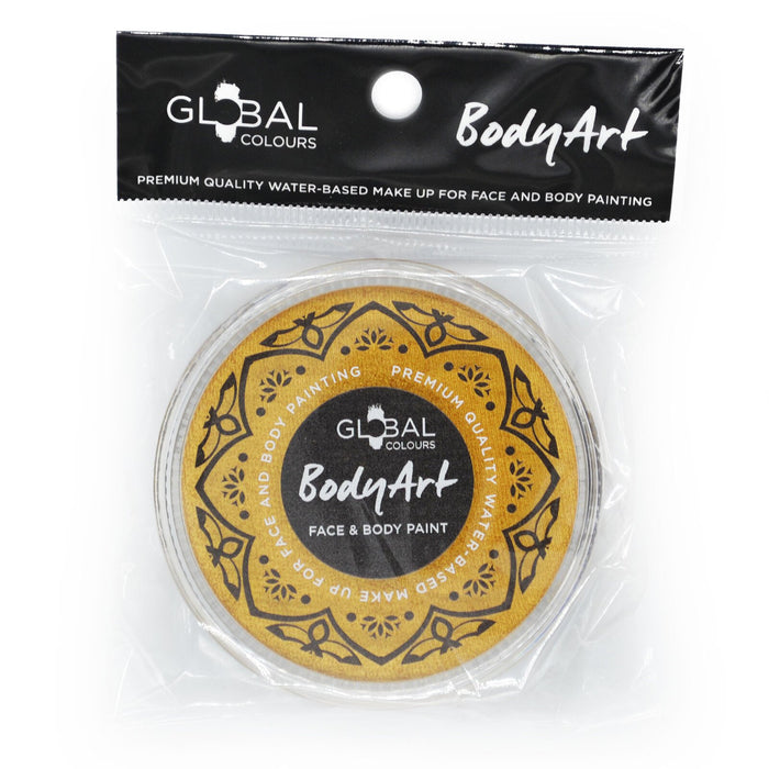 Global Colours Body Art | Face and Body Paint - Metallic Gold (32gr)