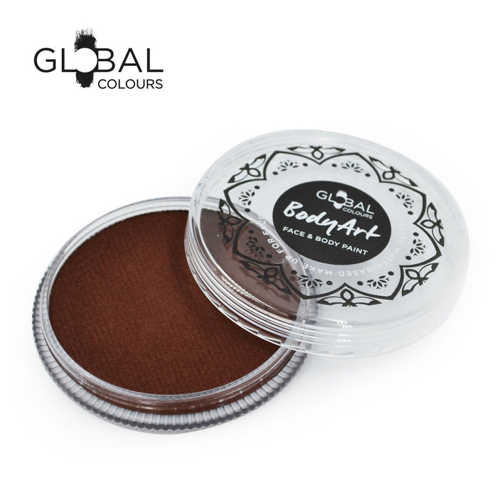 Global Colours Body Art | Face and Body Paint -  NEW Standard Rose Brown 32gr - Jest Paint Store