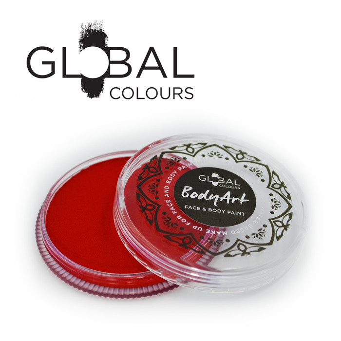 Global Colours Body Art | Face and Body Paint - Standard Red (32gr)