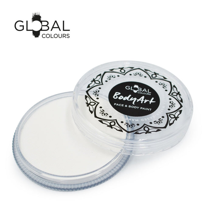 Global Colours Body Art | Face and Body Paint - NEW Standard White 32gr - Jest Paint Store