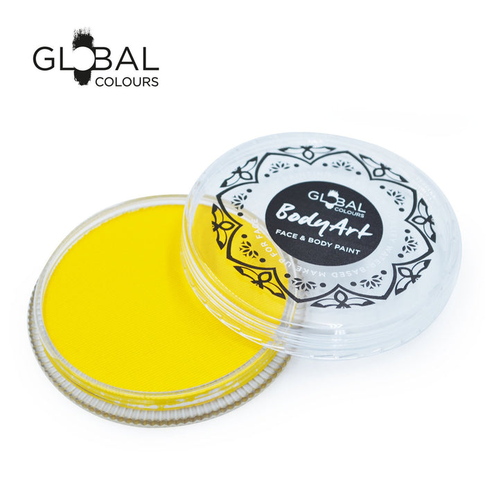 Global Colours Body Art | Face and Body Paint - NEW Standard Yellow (32gr) - Jest Paint Store