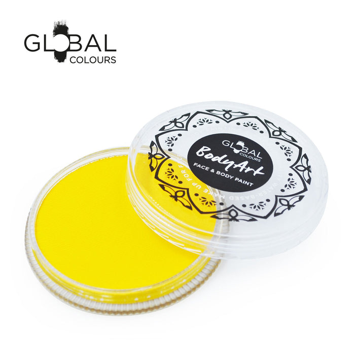 Global Colours Body Art | Face and Body Paint -  NEW Standard Light Yellow 32gr - Jest Paint Store