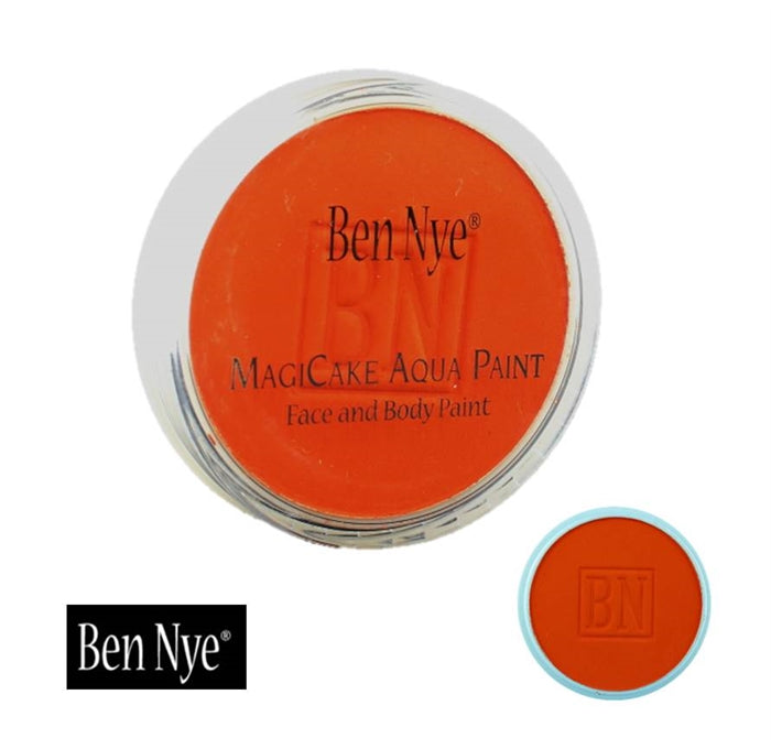 BenNye MagiCake Face Paint - Brite Orange   .77oz/22gr - Jest Paint Store