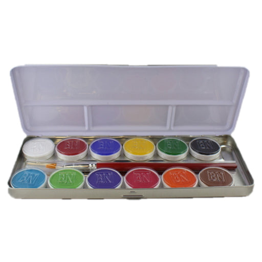 Ben Nye MagiCake Aqua Paint - 12 Color Palette - Jest Paint Store