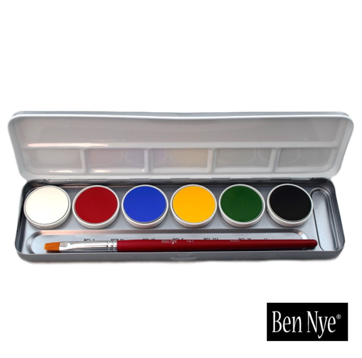 Ben Nye MagiCake Aqua Paint - 6 Color Palette - Jest Paint Store