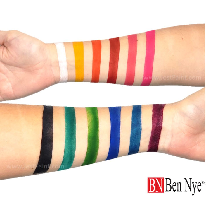 Ben Nye | Powder Face Paint - Studio Color Rainbow Palette - 24 grams Swatches