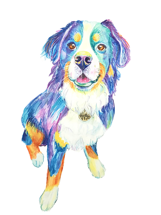 Pet Portraits - Custom Watercolor Art by Anna Wilinski (High Res Digital File)