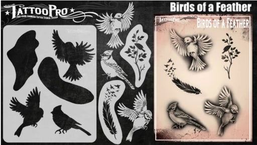 Tattoo Pro | Air Brush Body Painting Stencil - Birds of a Feather