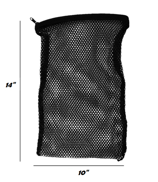 Black Mesh Zipper Sponge Bag