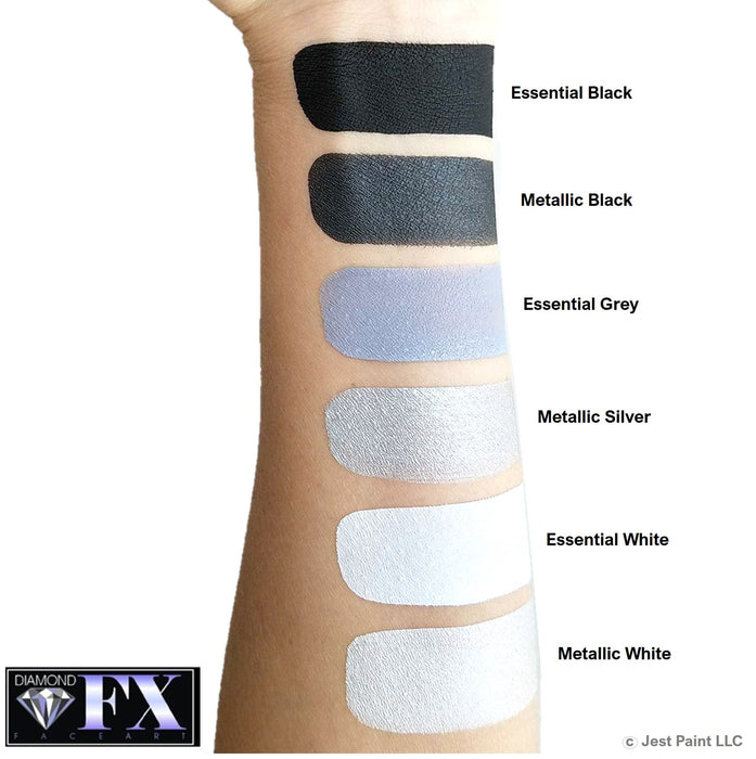 Diamond FX Face Paint Essential - Grey 30gr - Jest Paint Store