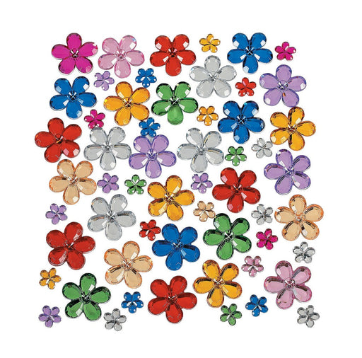 Jest Jewelz - FLOWERS - Assorted Colors & Sizes (Approx. 150 Pieces) - Jest Paint Store