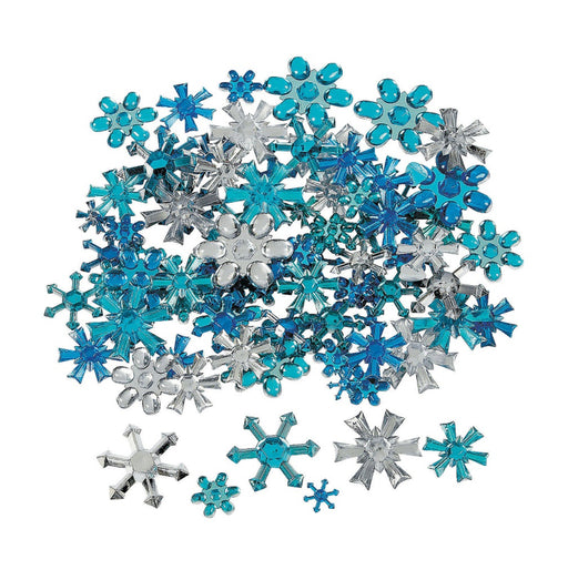 Jest Jewelz - SNOWFLAKES - Assorted Colors & Sizes (Approx. 150 Pieces) - Jest Paint Store