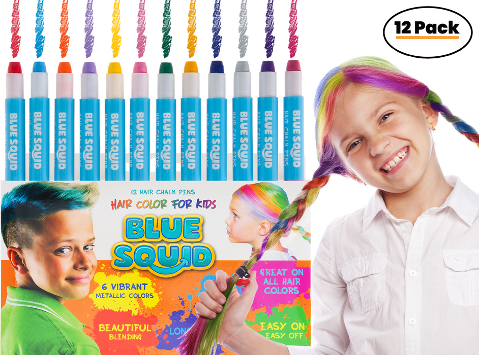 Blue Squid | Hair Chalk Pens and Glitter Set
