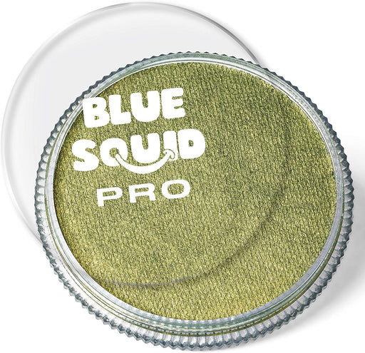 Blue Squid | PRO Face Paint - Metallic Bronze Green 30gr - Jest Paint Store