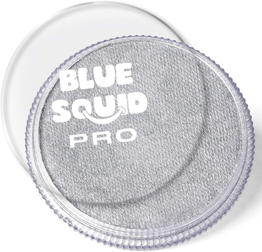Blue Squid | PRO Face Paint - Metallic Silver 30gr - Jest Paint Store