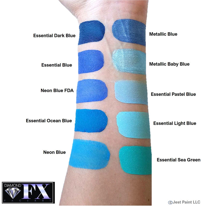 Diamond FX Face Paint - Metallic Blue 30gr - Jest Paint Store