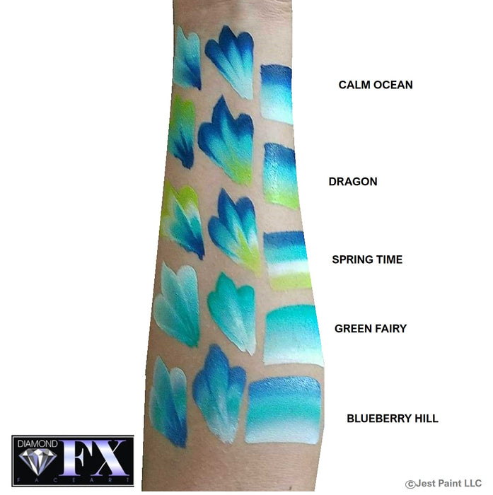 DFX Face Paint Rainbow Cake - Small Blueberry hill swatch