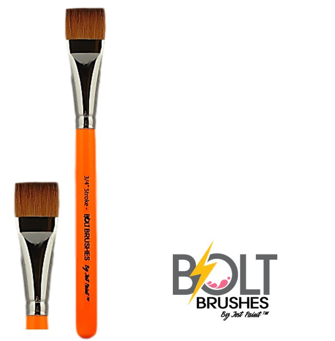 "BOLT Face Painting Brushes by Jest Paint - 3/4"" Stroke close up"