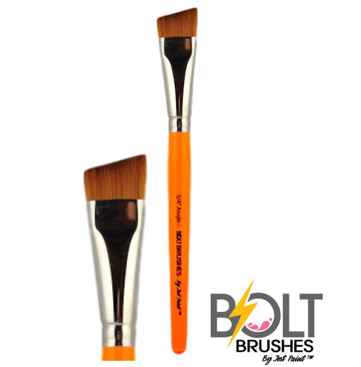 "BOLT Face Painting Brushes by Jest Paint | NEW Pointed Handle -  3/4"" Angle"