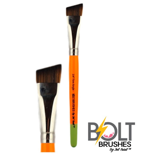 "BOLT Face Painting Brushes by Jest Paint - NEW Pointed Handle - FIRM 3/4"" Angle"
