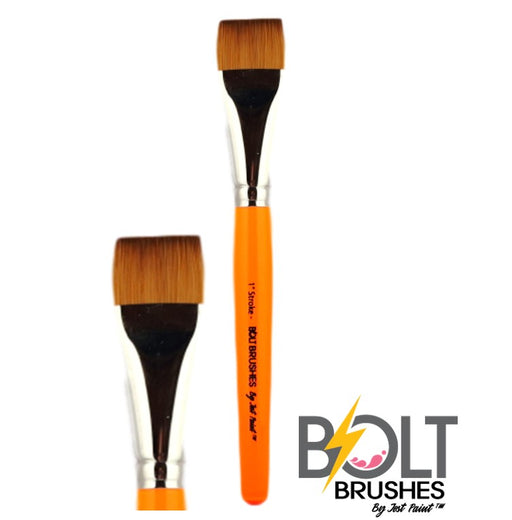 "BOLT Face Painting Brushes by Jest Paint - NEW Pointed Handle  - 1"" Stroke"